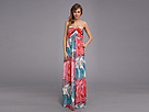 Donna Morgan Laura Long Printed Chiffon Gown (Taffy)