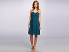 Donna Morgan Sarah Short Rouched Dress (Jade)