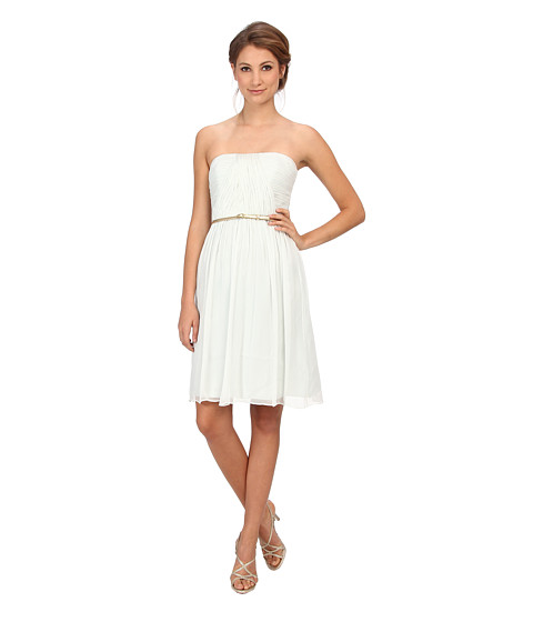 Donna Morgan Donna Strapless Belted Chiffon Dress - 6pm.com