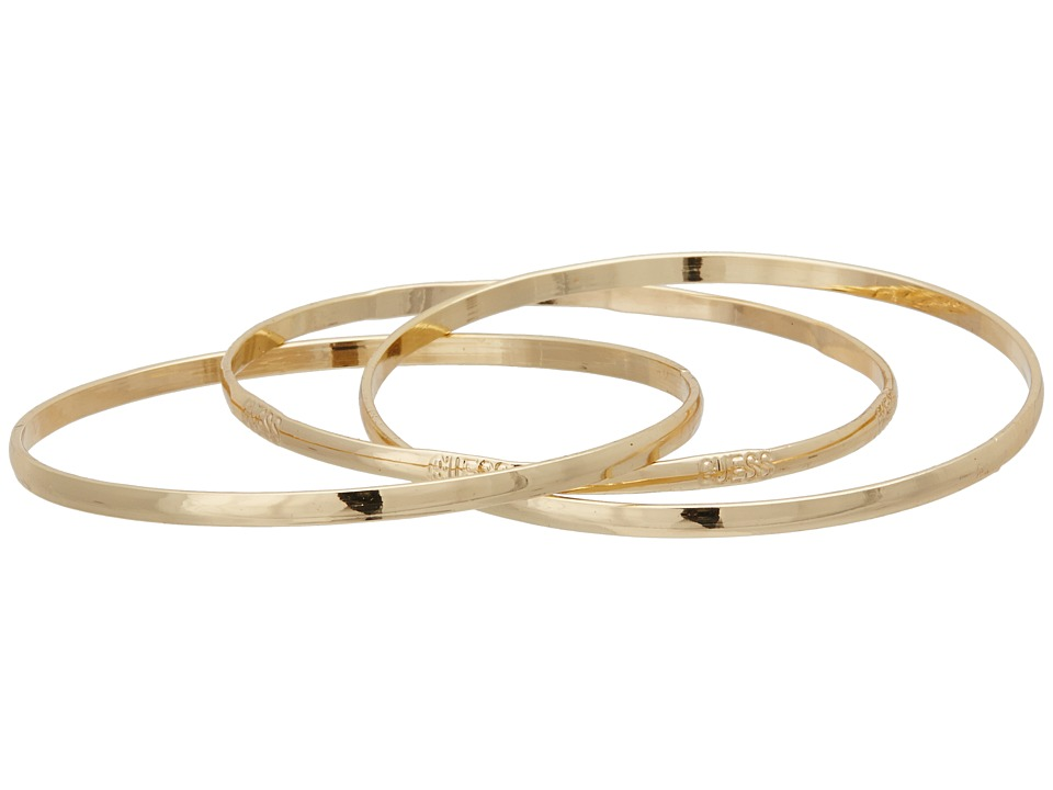 Guess Interlocking Trio Bangle Set (Gold) Bracelet