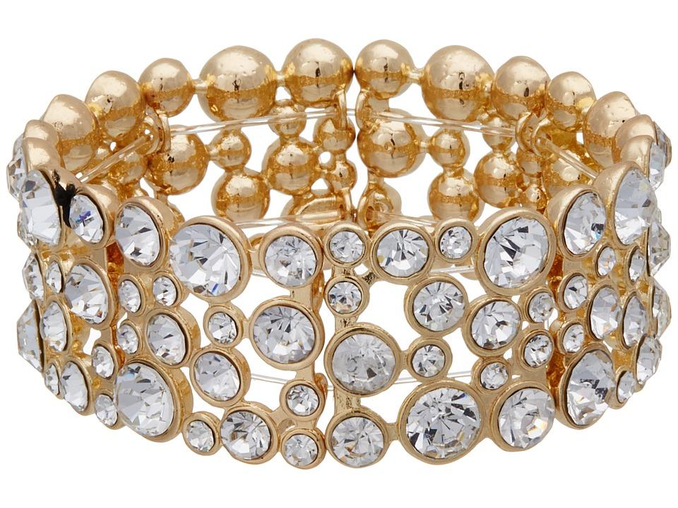 GUESS - Stone Stretch Bracelet (Gold/Crystal) Bracelet