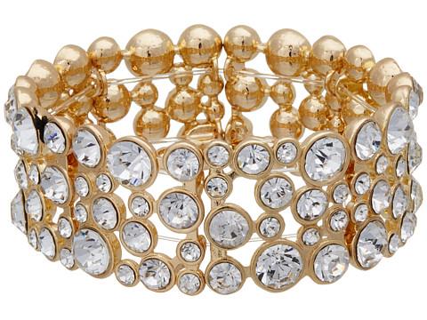 GUESS Stone Stretch Bracelet - Gold/Crystal