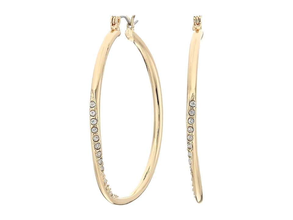 GUESS - Hoop With Stones Earring (Gold) Earring