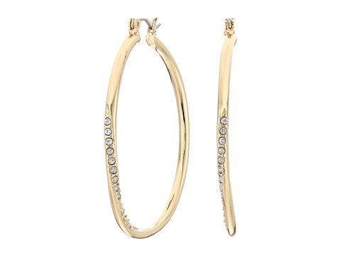 GUESS Hoop With Stones Earring - Gold