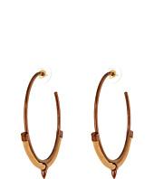 Vince Camuto - Eclectic Tango Leather Hoop Earrings