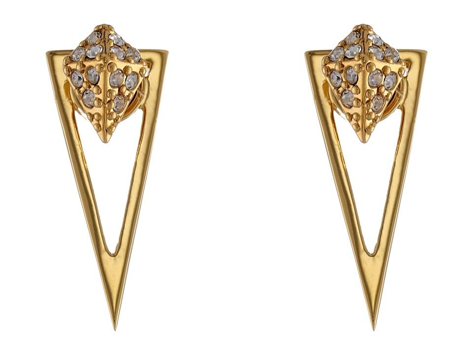 Vince Camuto - Viva La Vince Crystal Two Part Drop Earrings