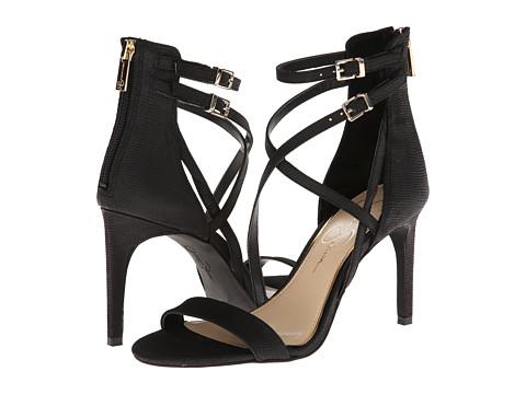 Jessica Simpson - Myelle (Black Mini Snake Embossed) - Footwear