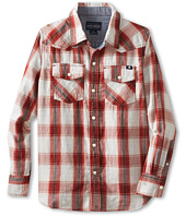 Lucky Brand Kids - Double Weave L/S Plaid Shirt (Big Kids)