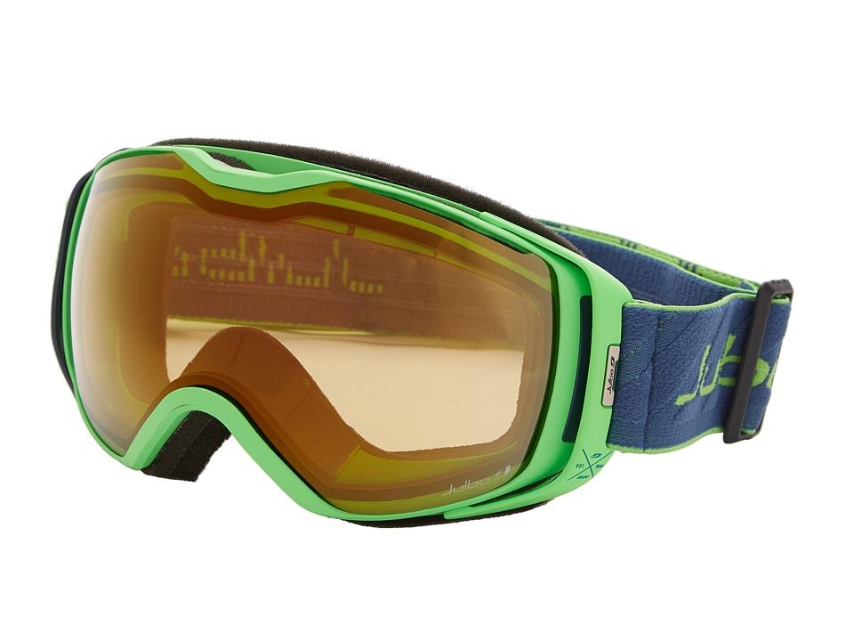 Julbo Eyewear Universe Goggle Green/Dark Blue Zebra Lens Snow Goggles