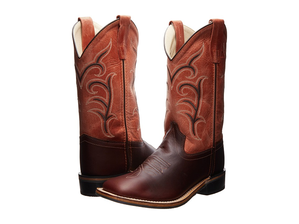 Old West Kids Boots Western Boots Toddler/Little Kid Oiled Rust/Red Cowboy Boots