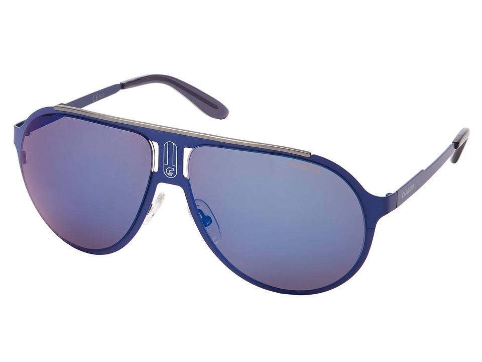 Carrera - Champion/M/T/S (Matte Blue/Blue Sky Mirror) Fashion Sunglasses