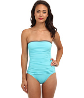 Tommy Bahama - Deck Piping Shirred Bandeau Cup One-Piece