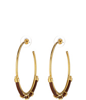 Vince Camuto - Colored Leather Hoop Earrings