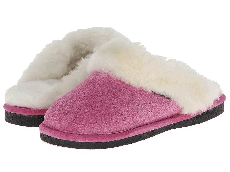 Old Friend Ladies Scuff (Hot Pink/White) Women's Shoes