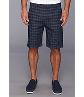 7 For All Mankind - Chino Short in Indigo Woven Plaid
