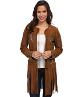 Scully - Romantic Leather and Lace Fringe Jacket
