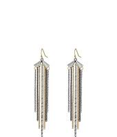 BCBGeneration - Moto Chic Tri Tone Tassel Drop Earrings