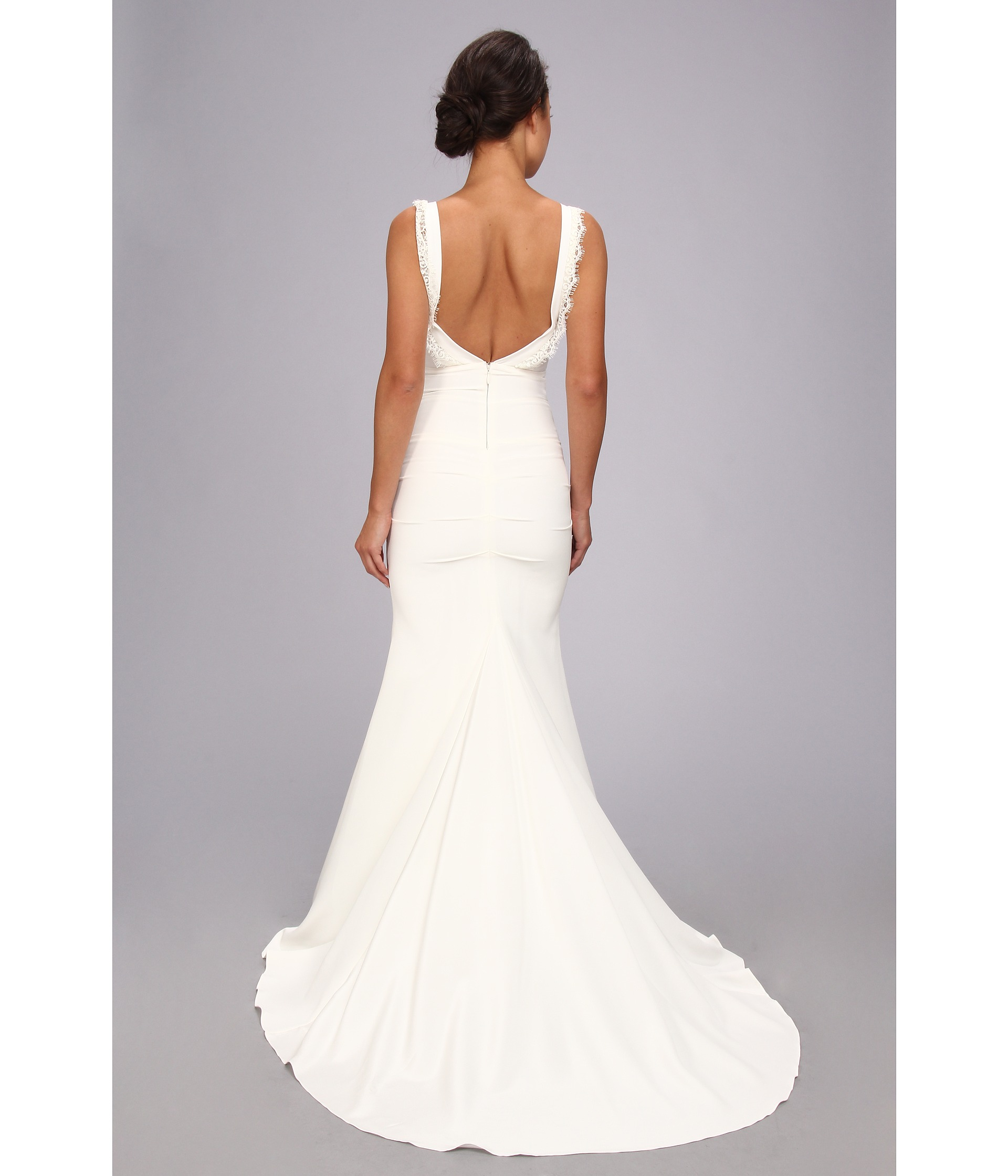 Nicole Miller Alexis Low Back Bridal Gown - Zappos.com Free ...
