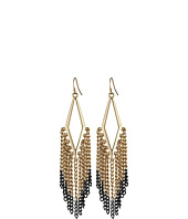 BCBGeneration - In the Shadows Two-Tone Kite Fringe Earrings