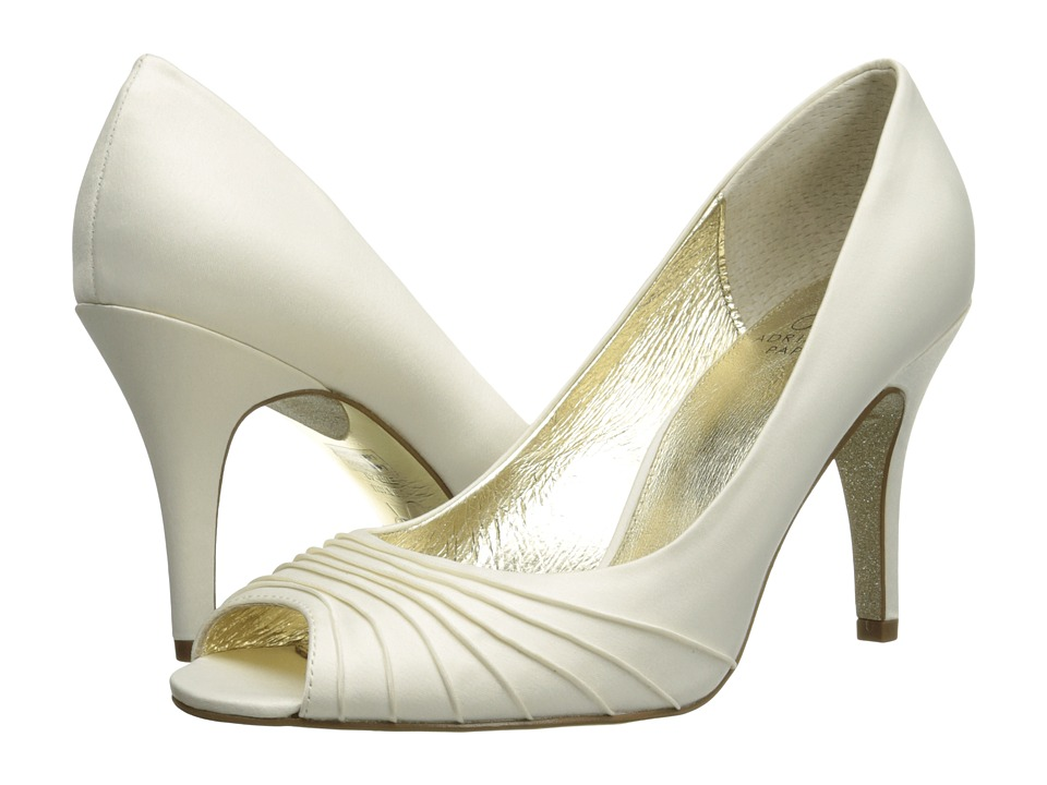 Adrianna Papell Farrel Ivory Classic Satin High Heels