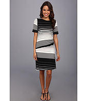 Nally & Millie - Striped Half Sleeve Dress