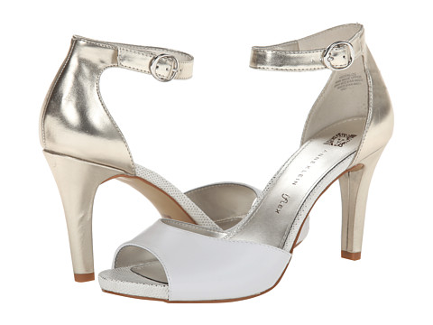 Womens Shoes Anne Klein Opalize White With Metallic