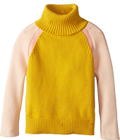 Chloe Kids - Color Block Knitted Turtleneck Sweater (Toddler/Little Kids)