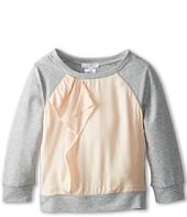 Chloe Kids - Silk Satin And Fleece Raglan Sweatshirt (Toddler/Little Kids)