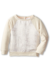 Chloe Kids - Jacquard Front Fabric And Fleece Raglan Sweatshrit (Toddler/Little Kids)