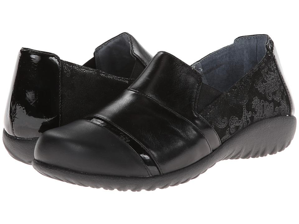 Naot Miro (Black Lace Nubuck/Metallic Road Leather/Black ...