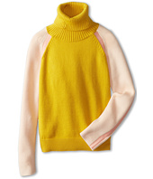 Chloe Kids - Color Block Knitted Turtleneck Sweater (Big Kids)