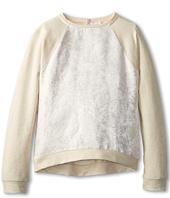 Chloe Kids - Jacquard Front Fabric And Fleece Raglan Sweatshrit (Big Kids)