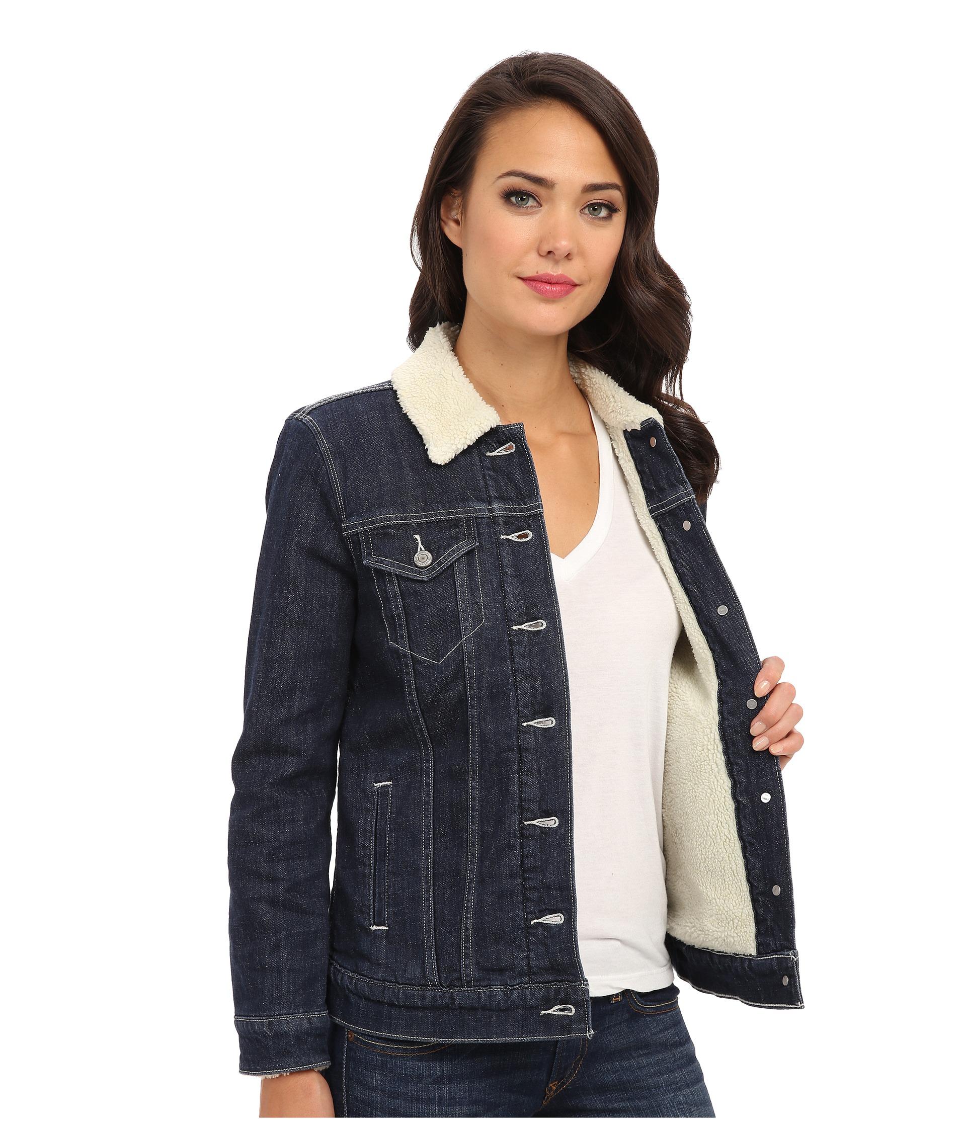 Lined Denim Jacket Womens