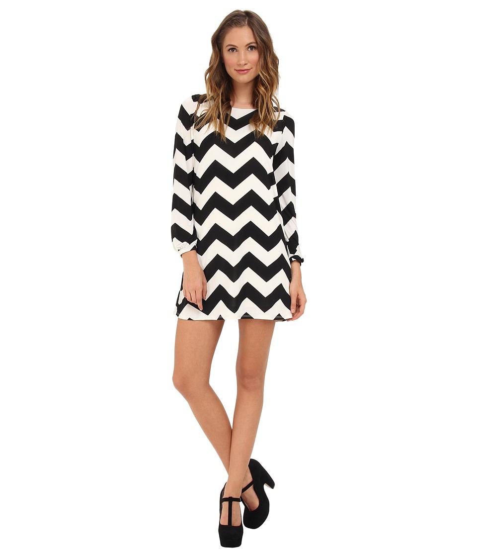 Brigitte Bailey Skyler Shift Dress Black/White Womens Dress