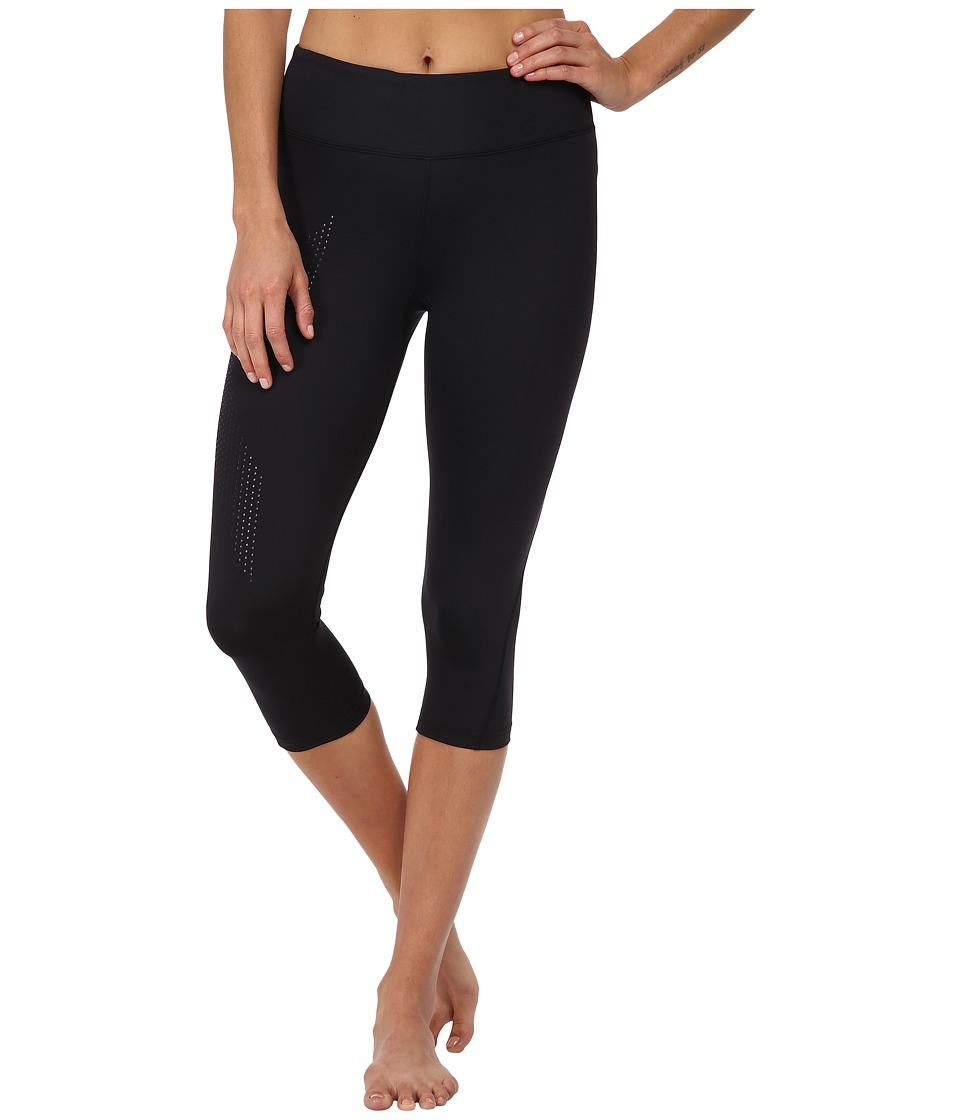 2XU - Mid-Rise Compression 3/4 Tight (Black/Dotted Black Logo) Womens Workout
