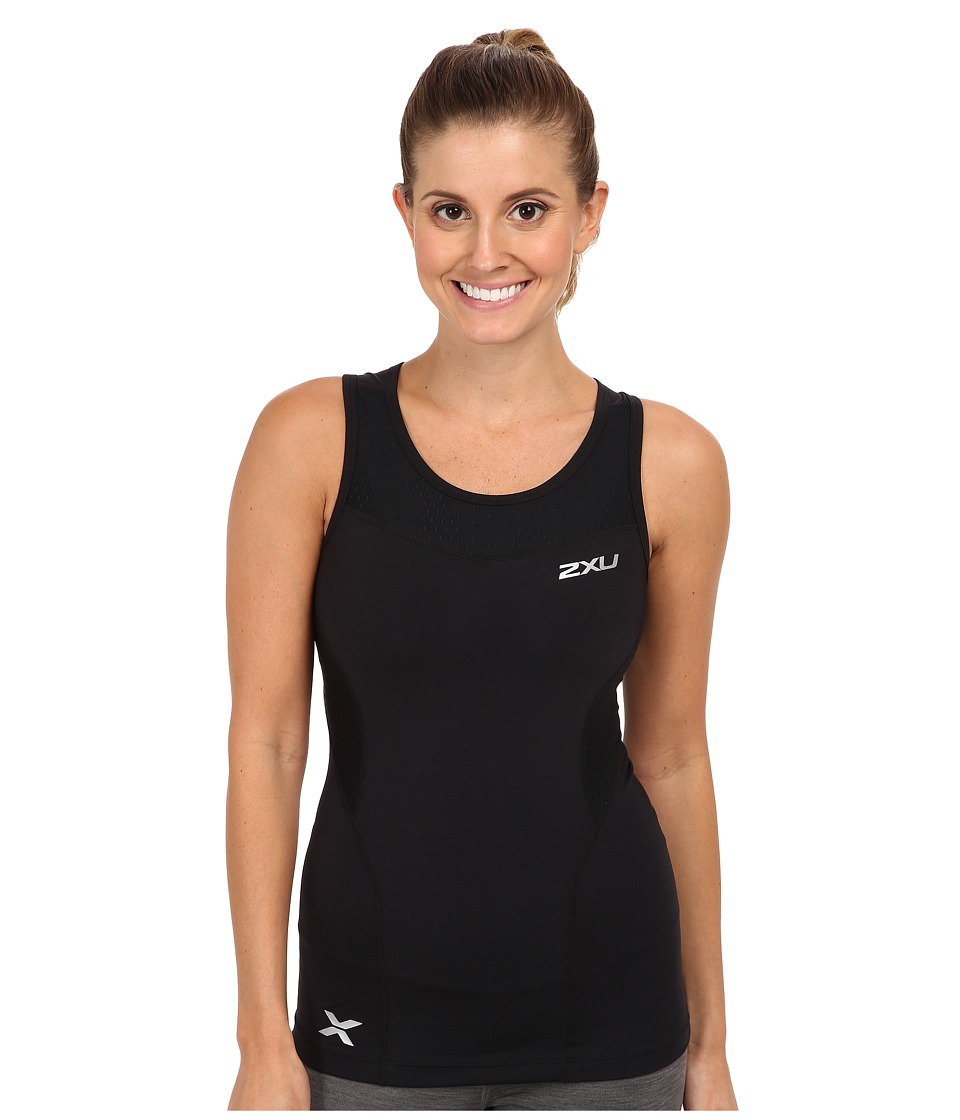 2XU Compression Tank (Black/Black) Women