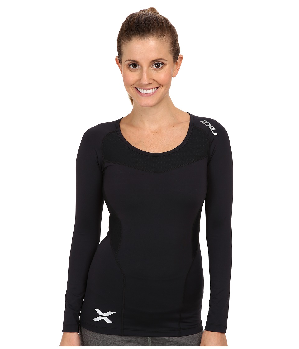 2XU Compression L/S Top Black/Black Womens Clothing