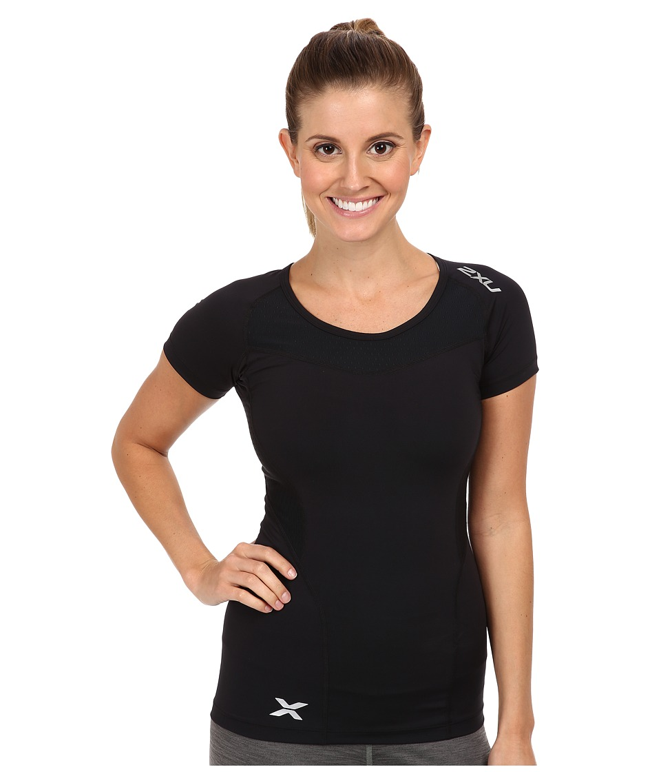2XU Compression S/S Top Black/Black Womens Short Sleeve Pullover