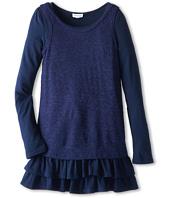 Splendid Littles - Slub Loose Knit Twofer L/S Dress (Big Kids)