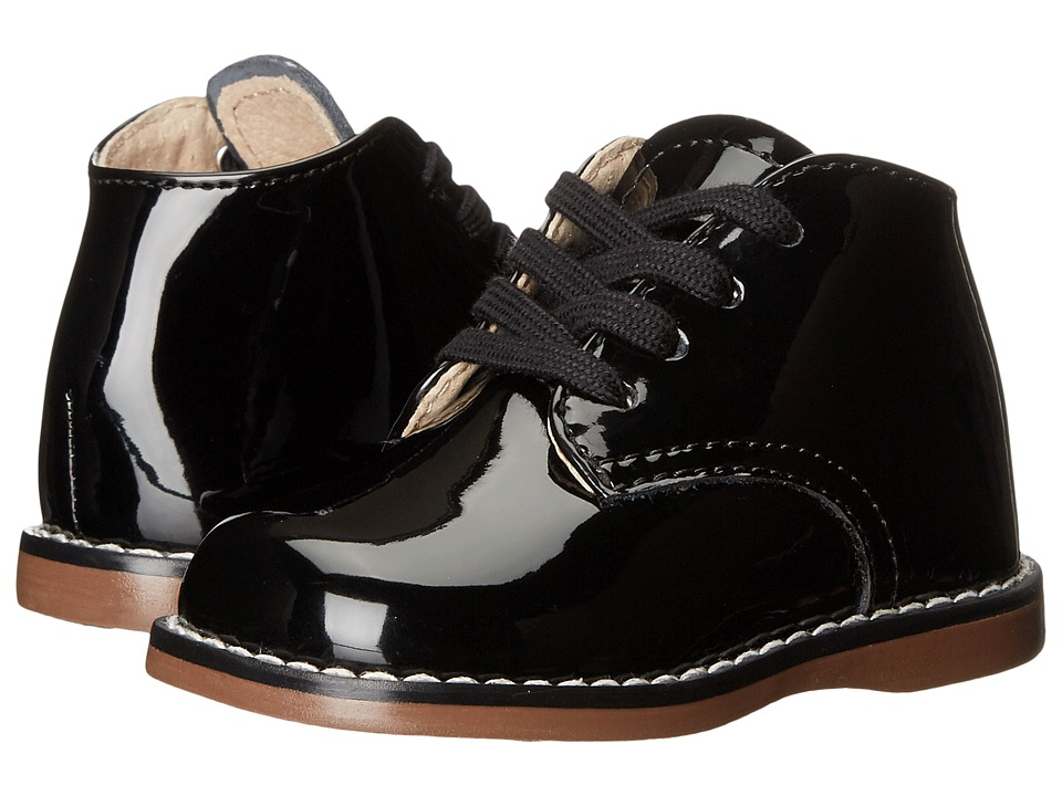 FootMates Todd 3 (Infant/Toddler) (Black Patent) Girls Shoes
