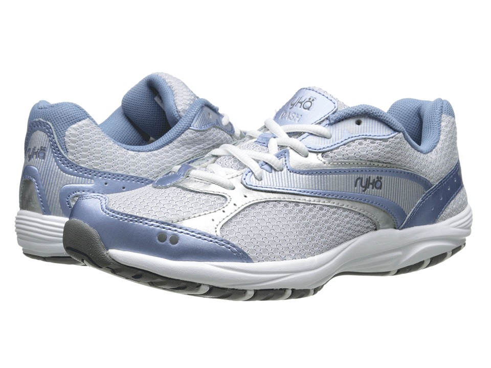 Ryka Dash Met.Lake Blue/Chrome Silver/Steel Grey/White Womens Walking Shoes