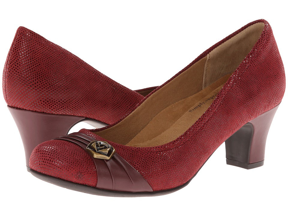 Softspots Tabia (Claret Red/Jewel Red Santos Suede/Velvet Sheep Nappa) High Heels