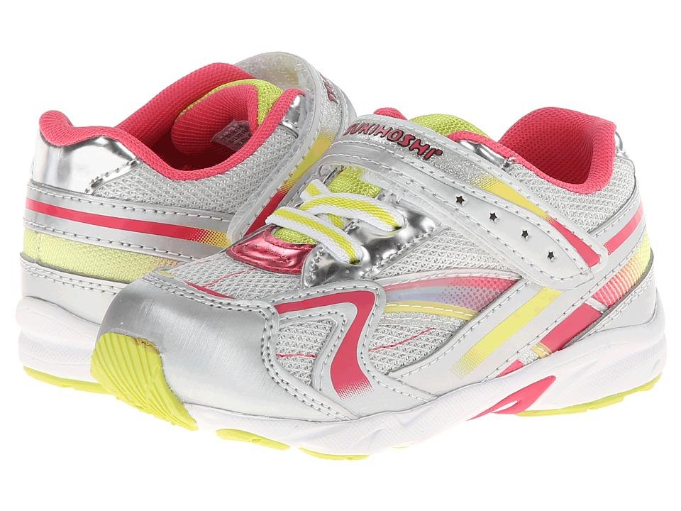 Tsukihoshi Kids B. Glitz Toddler Silver/Lime Girls Shoes