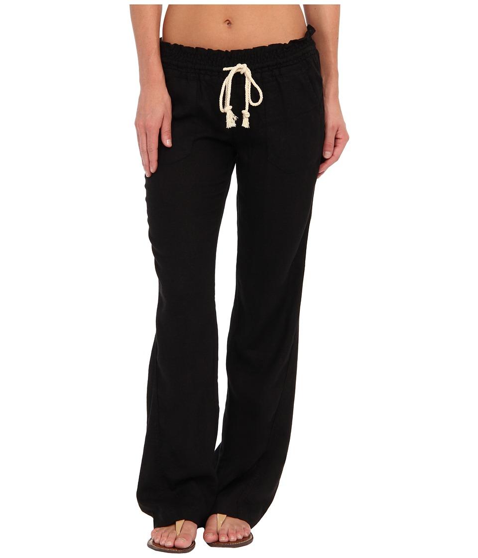 Roxy Ocean Side Pant True Black Womens Casual Pants
