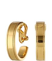 LAUREN Ralph Lauren - Il Pellicano 18mm Etched Metal Hoop Earring