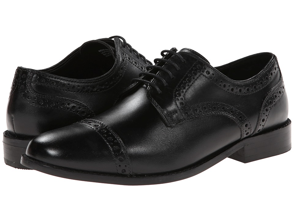 Nunn Bush Norcross Cap Toe Oxford (Black) Men