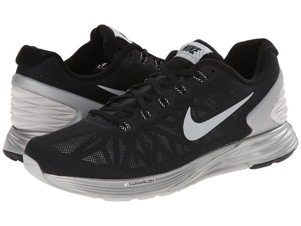 Nike Lunar Glide Flash (Black/Reflective Silver/Cool Grey/Wolf Grey) Women's Running Shoes