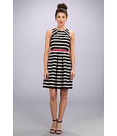 Eliza J  Striped Full Skirt w/ Pop Belt  image
