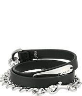COACH - Multi Wrap Leather Chain Bracelet
