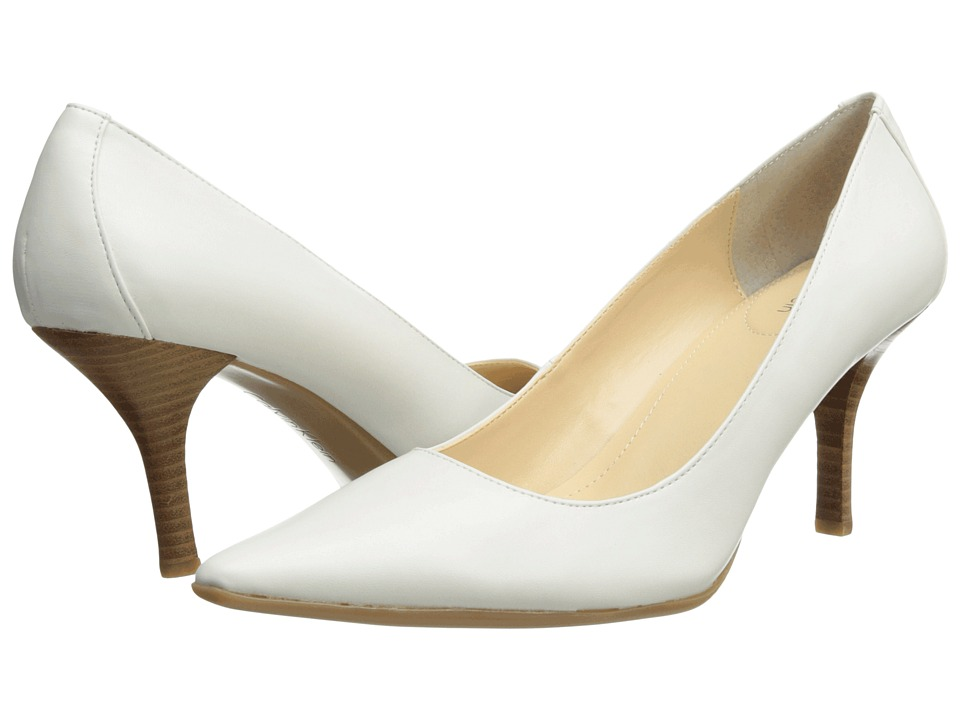 Shop Calvin Klein online and buy Calvin Klein Dolly Antique White Shiny S Nappa High Heels online